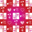 Royalty-Free Stock Photo: Valentine pattern on red background