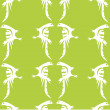 White birds pattern on green — Stock Photo