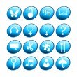 Blue new icons - Stock Photo