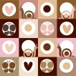 Chocolate and cappuccino background — Stock Photo