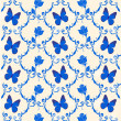 Pattern with blue butterflies — Stock Photo #3313472