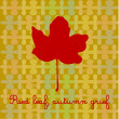 Red leaf on pastel background — Stock Photo