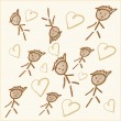 Stock Photo: Scribbled kids drawing background