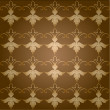 Vintage brown background pattern - Stock Photo