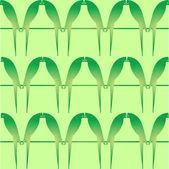 Green birds on green background — Stock Photo