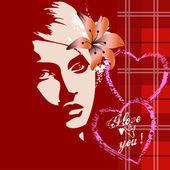 Valentine beautiful girl — Stock Photo