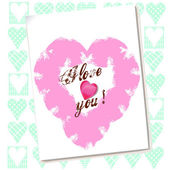 Valentine card with hearts — Stock Photo