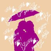 Valentijn paar verliefd — Stockfoto