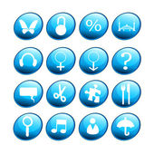 Blue new icons — Foto de Stock