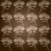 Dark background with flowers pattern — Stock Photo