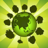 Green earth globe — Photo