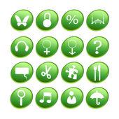 Green new icons — Stock Photo