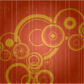 Retro background with circles and grunge 1 — Stock Photo