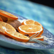 Dried orange and cinammon decoration - Stock Photo