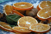 Christmans decoration, dried orange — Stock Photo