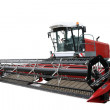 Red modern combine — Stock Photo