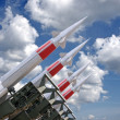 Stock Photo: Four rockets