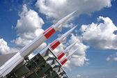 Four rockets — Stock Photo