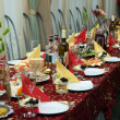 The table covered by a holiday — Stock Photo