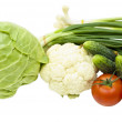 Vegetables on a white background — Stock Photo