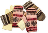 Knitted gloves — Stock Photo