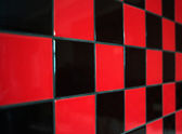 Red and black tile — Stock Photo
