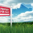 Real Estate Sign - Stock Photo