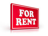 Real Estate Sign - For Rent — Stock Photo