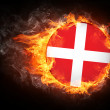 Denmark Flag — Stock Photo