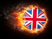Velká británie vlajka — Stock fotografie