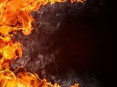 Feuer-hintergrund — Stockfoto