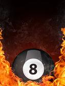 Pool Billiards Ball — Stock Photo