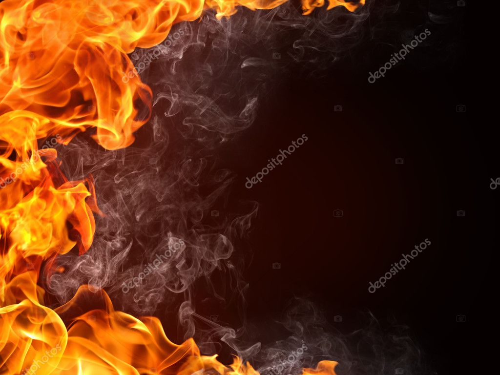 Fire Background. Fire isolated on black. — Stock Photo #3527571