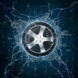 Car Wheel Water — Stock Photo