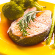Royalty-Free Stock Photo: Salmon steak with vegetable