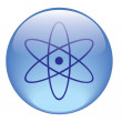Radiation icon on a white background — Stock Photo