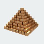 Gold ingots isolated on white background — Stock Photo