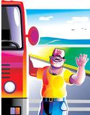 Truck driver — Stock Vector