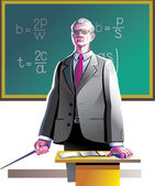 Old teacher — Stock Vector