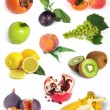 Fruits set — Stock Photo