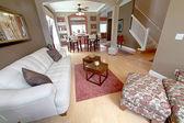 Obývací a jídelní prostor — Stock fotografie