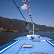 Boat on Lake of Ossiach — Stock Photo