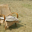 Постер, плакат: Old fashioned garden chair and pillow