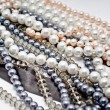 Stock Photo: Strings of pearls