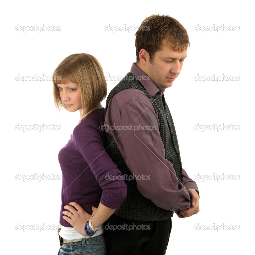 Sad couple on a isolated background — Stock Photo #2839464