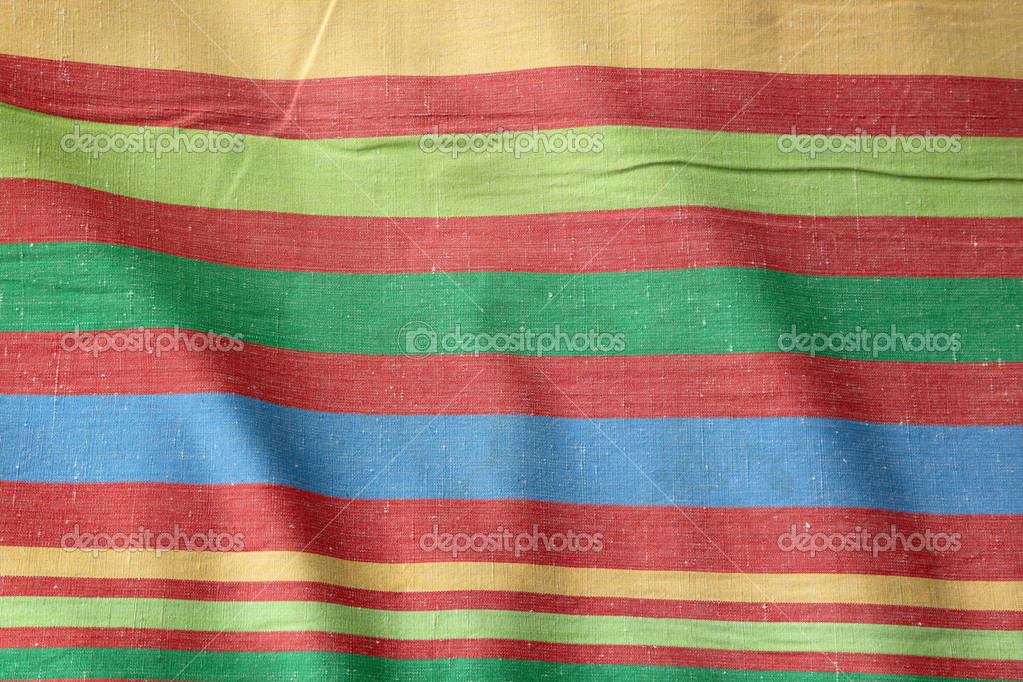 Colorful striped cotton fabric background  Stock Photo #3407284
