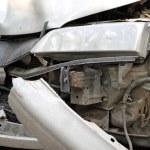 Traffic accident. Car crash — Stock Photo