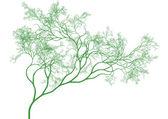 Green tree, vector — Stock Vector
