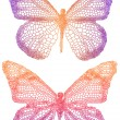 Beautiful butterflies — Vettoriali Stock