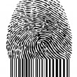 Barcode fingerprint, vector - Vettoriali Stock